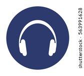 headphone icon vector flat... | Shutterstock .eps vector #563991628