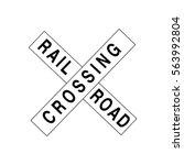 Railroad Crossing Sign Icon
