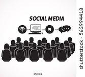 social media connection... | Shutterstock .eps vector #563994418