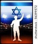 israel fencing on stadium... | Shutterstock .eps vector #56399572