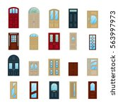home or house wooden or wood... | Shutterstock .eps vector #563997973