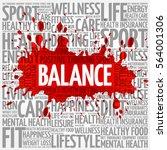 balance word cloud  fitness ... | Shutterstock . vector #564001306
