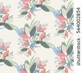 floral seamless pattern. hand... | Shutterstock .eps vector #564002854