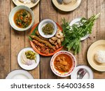 traditional thai food from... | Shutterstock . vector #564003658