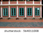beautiful building's facade   Shutterstock . vector #564011008