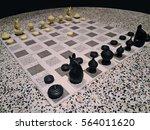 thai style chessmen on round...   Shutterstock . vector #564011620