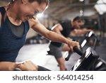 hard working sportive people... | Shutterstock . vector #564014254