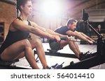 two young sportsmen having hard ... | Shutterstock . vector #564014410