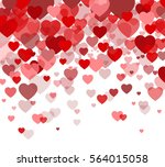 vector background with hearts ... | Shutterstock .eps vector #564015058