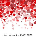 vector background with hearts ... | Shutterstock .eps vector #564015070
