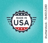 made in usa icon concept old... | Shutterstock .eps vector #564015280