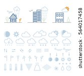 mega pack of weather icons with ...   Shutterstock .eps vector #564017458