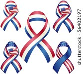 usa patriotic ribbons vector... | Shutterstock .eps vector #56402197