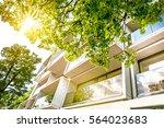 windows of modern white...   Shutterstock . vector #564023683