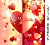 valentine. valentines day.... | Shutterstock .eps vector #564024274