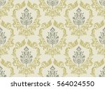 vector damask seamless pattern... | Shutterstock .eps vector #564024550