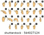 alphabet signs and signals... | Shutterstock . vector #564027124