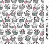 seamless truffle pattern   Shutterstock .eps vector #564033904