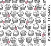 seamless truffle pattern   Shutterstock .eps vector #564033910
