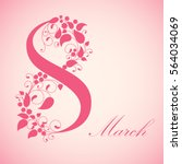 8 march  international women's... | Shutterstock .eps vector #564034069