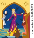purim greeting card  the feast...   Shutterstock .eps vector #564038224