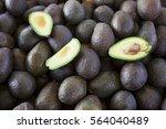 fresh juicy fruits avocado... | Shutterstock . vector #564040489
