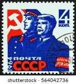 ussr   circa 1964  a stamp... | Shutterstock . vector #564042736