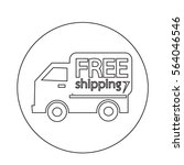 free shipping icon | Shutterstock .eps vector #564046546