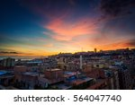 Colorful Sunset In Cagliari