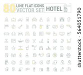 vector graphic set.icons in... | Shutterstock .eps vector #564051790