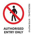 authorised entry only vector... | Shutterstock .eps vector #564056086