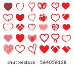big heart vector collection  ... | Shutterstock .eps vector #564056128
