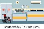 hospital reception illustration | Shutterstock . vector #564057598