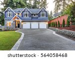 luxurious home exterior with... | Shutterstock . vector #564058468