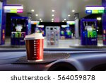 plastic cup was placed in the... | Shutterstock . vector #564059878