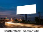 blank billboard for... | Shutterstock . vector #564064930