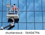 Window Cleaner Working On A...