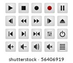 set of 20 vector media icons | Shutterstock .eps vector #56406919