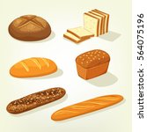 bread food variety. brick... | Shutterstock .eps vector #564075196