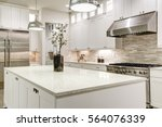 Gourmet Kitchen Features White...