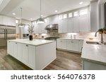 gourmet kitchen features white... | Shutterstock . vector #564076378