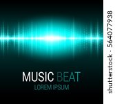 music beat. turquoise lights... | Shutterstock .eps vector #564077938