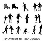 skating people silhouette... | Shutterstock .eps vector #564080008