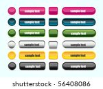 set of colorful website buttons ... | Shutterstock .eps vector #56408086