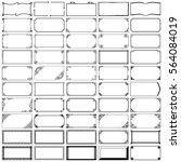 fifty rectangle frames  set 3  | Shutterstock .eps vector #564084019