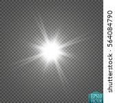 glow light effect. starburst... | Shutterstock .eps vector #564084790