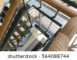 modern stair detail with cable... | Shutterstock . vector #564088744