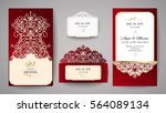 wedding invitation or greeting... | Shutterstock .eps vector #564089134