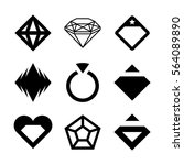 vector diamonds  brilliants ... | Shutterstock .eps vector #564089890