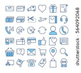 e commerce thin line color... | Shutterstock .eps vector #564092068
